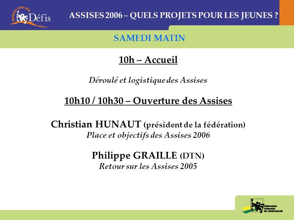 ASSISES 2006 QUELS PROJETS POUR LES JEUNES .