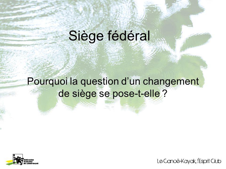 Pourquoi la question dun changement de siège se pose-t-elle ? Siège fédéral
