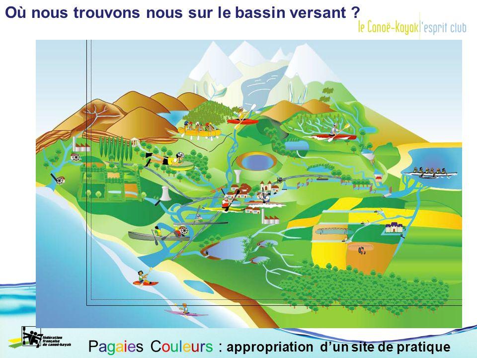 Le débit du Gave à Escos : Pagaies Couleurs : appropriation dun site de pratique
