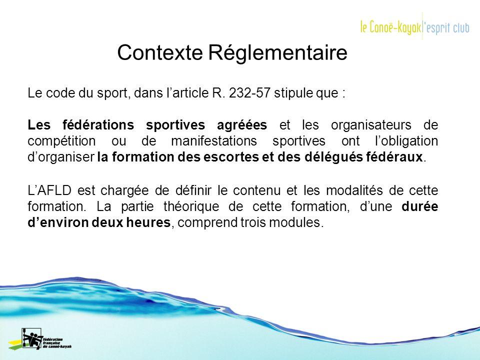 Le code du sport, dans larticle R. 232-57 stipule que : Les fédérations sportives agréées et les organisateurs de compétition ou de manifestations spo