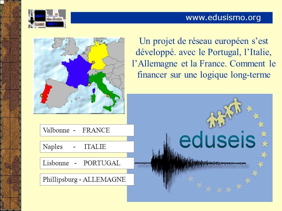 Un projet de réseau européen sest développé. avec le Portugal, lItalie, lAllemagne et la France.