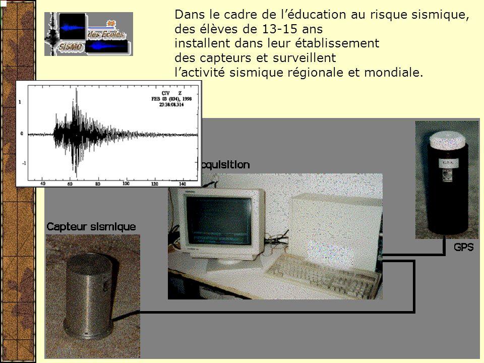2006-xxxx : UNE OPERATION LONG-TERME du sismo des écoles … au « SISMOS à lEcole » … à la mise en place dune structure nationale intégrée dans une Europe de léducation, de la sensibilisation des populations et de la formation scientifique.
