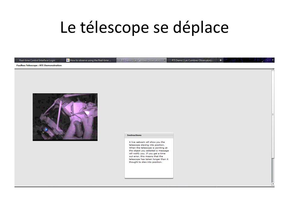 Le télescope se déplace