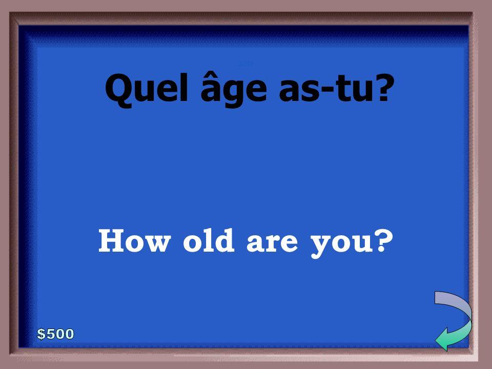 2-400 Who is that Qui est-ce