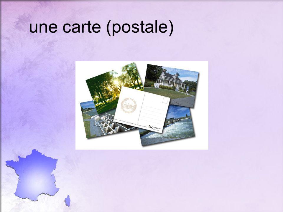 une carte (postale)