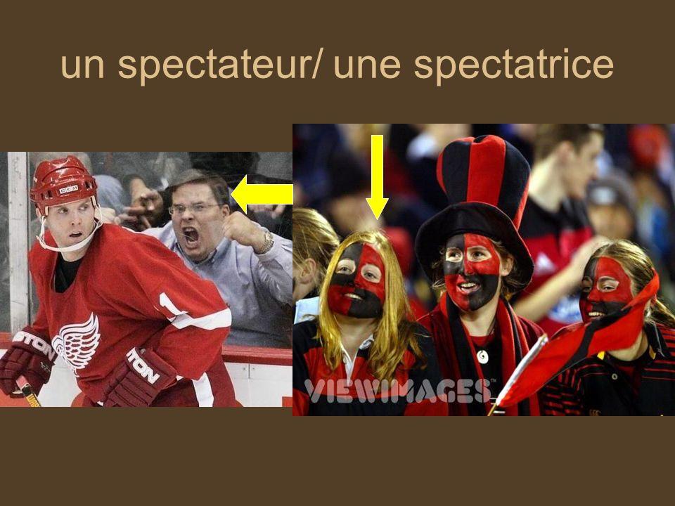 un spectateur/ une spectatrice