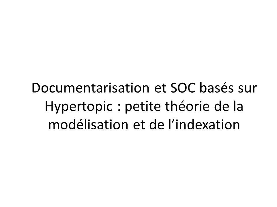 Documentarisation et SOC basés sur Hypertopic : petite théorie de la modélisation et de lindexation