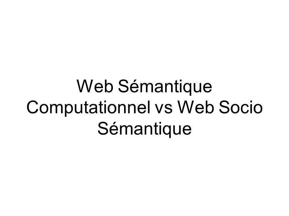 Thèses de Fabien Gandon On peut adhérer au Web Sémantique sans adhérer à la remontée dans les couches « hautes » de celui-ci : i.e.