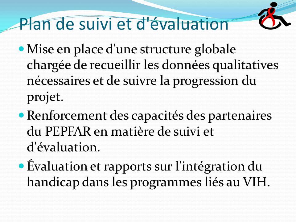 Plan de suivi et d évaluation Mise en place d une structure globale chargée de recueillir les données qualitatives nécessaires et de suivre la progression du projet.