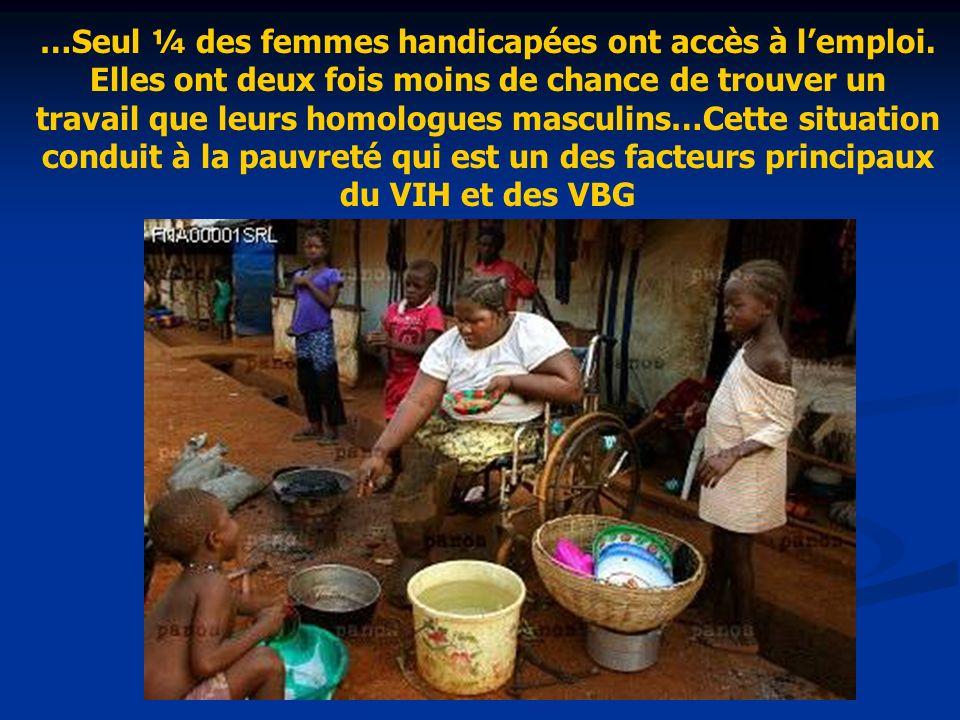 …Seul ¼ des femmes handicapées ont accès à lemploi.