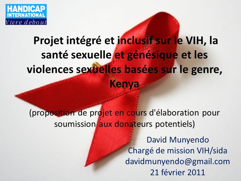 Intitulé du projet et principaux donateurs Intitulé : projet intégré et inclusif sur le VIH, la santé sexuelle et génésique et les violences sexuelles basées sur le genre Donateurs : en cours Budget prévisionnel total (activités) : 14 826 288 USD