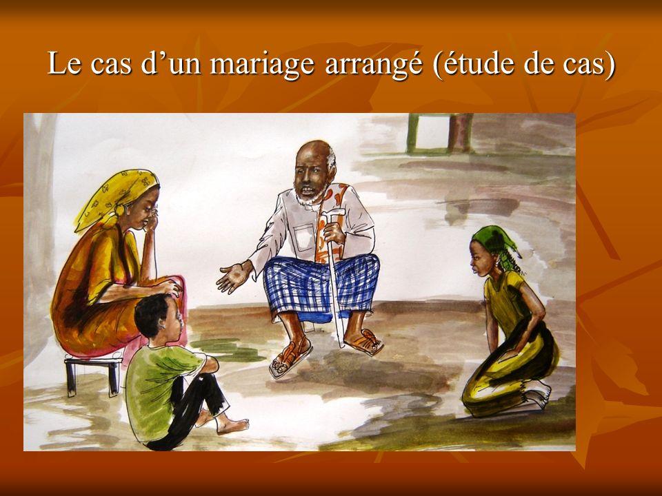 Le cas dun mariage arrangé (étude de cas)
