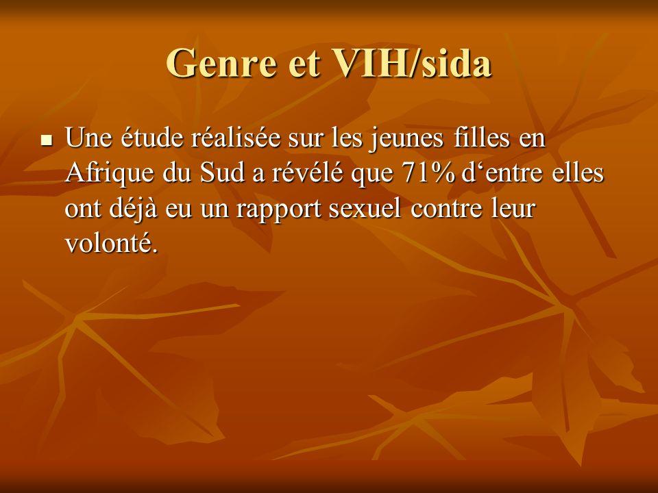 Genre et VIH/sida III Féminisation de la pauvreté et parole de la femme limitée dans les prises de décision.