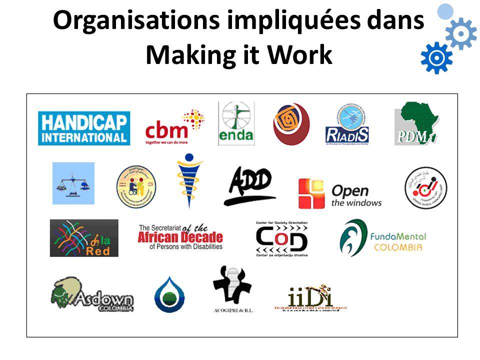 Organisations impliquées dans Making it Work