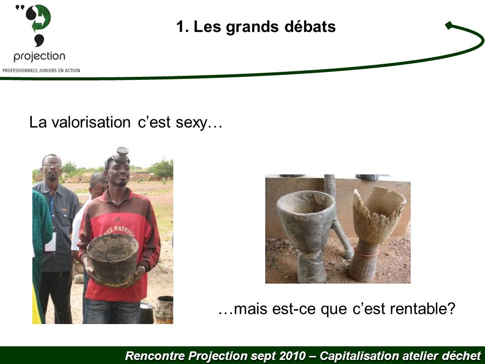 Rencontre Projection sept 2010 – Capitalisation atelier déchet 1. Les grands débats La valorisation cest sexy… …mais est-ce que cest rentable?