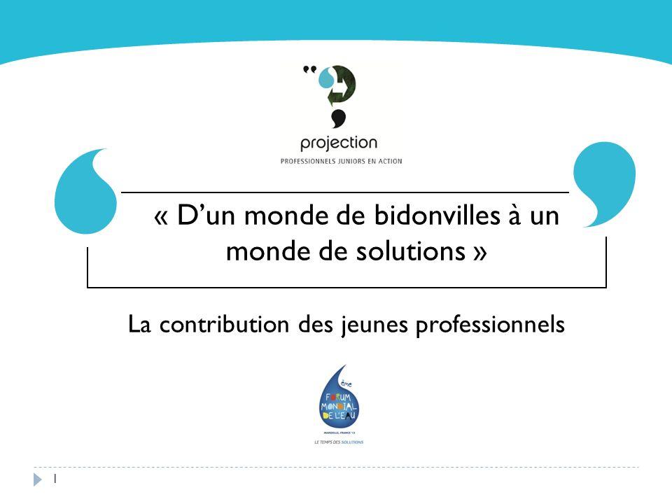 1 La contribution des jeunes professionnels « Dun monde de bidonvilles à un monde de solutions »