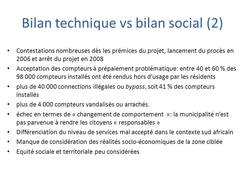 Bilan technique vs bilan social (2) Contestations nombreuses dès les prémices du projet, lancement du procès en 2006 et arrêt du projet en 2008 Accept