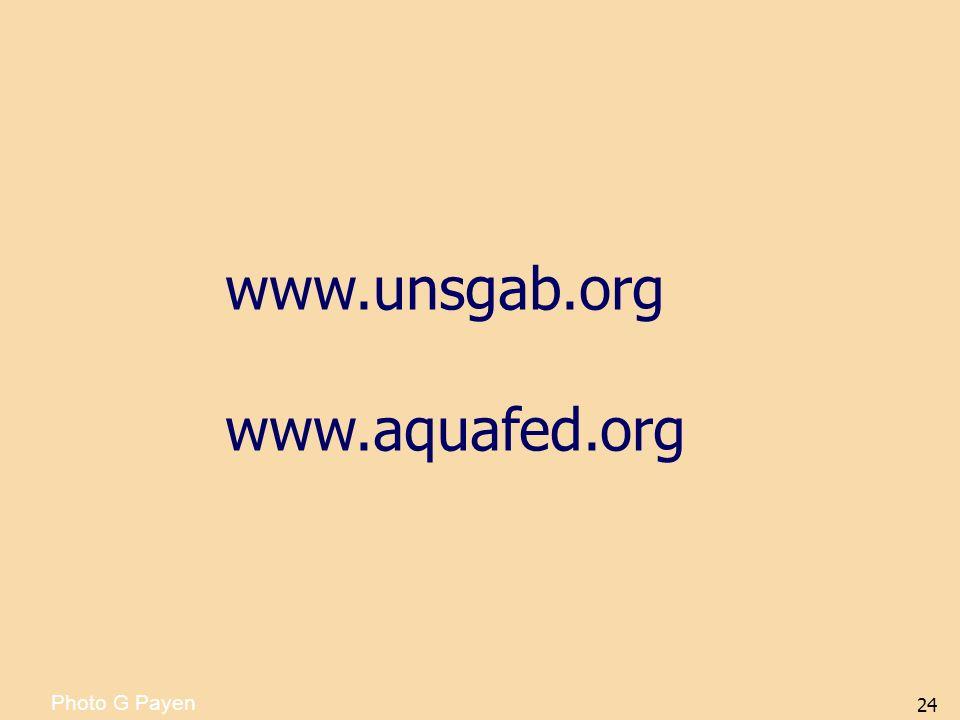 24 Photo G Payen www.unsgab.org www.aquafed.org