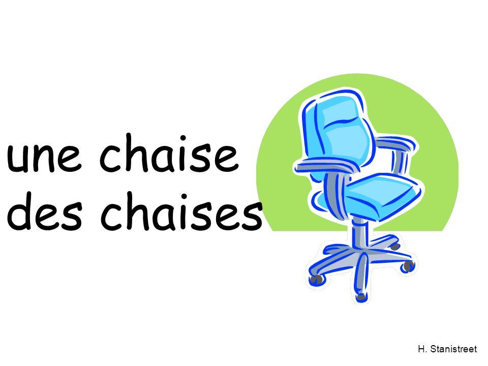 H. Stanistreet une chaise des chaises