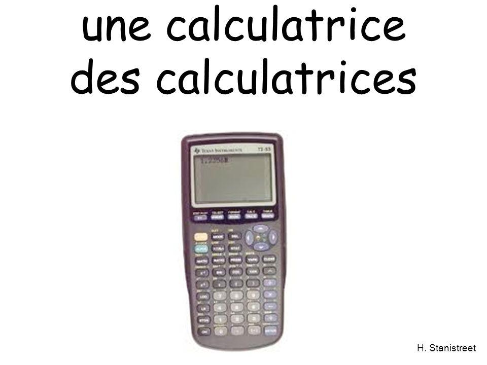 H. Stanistreet une calculatrice des calculatrices
