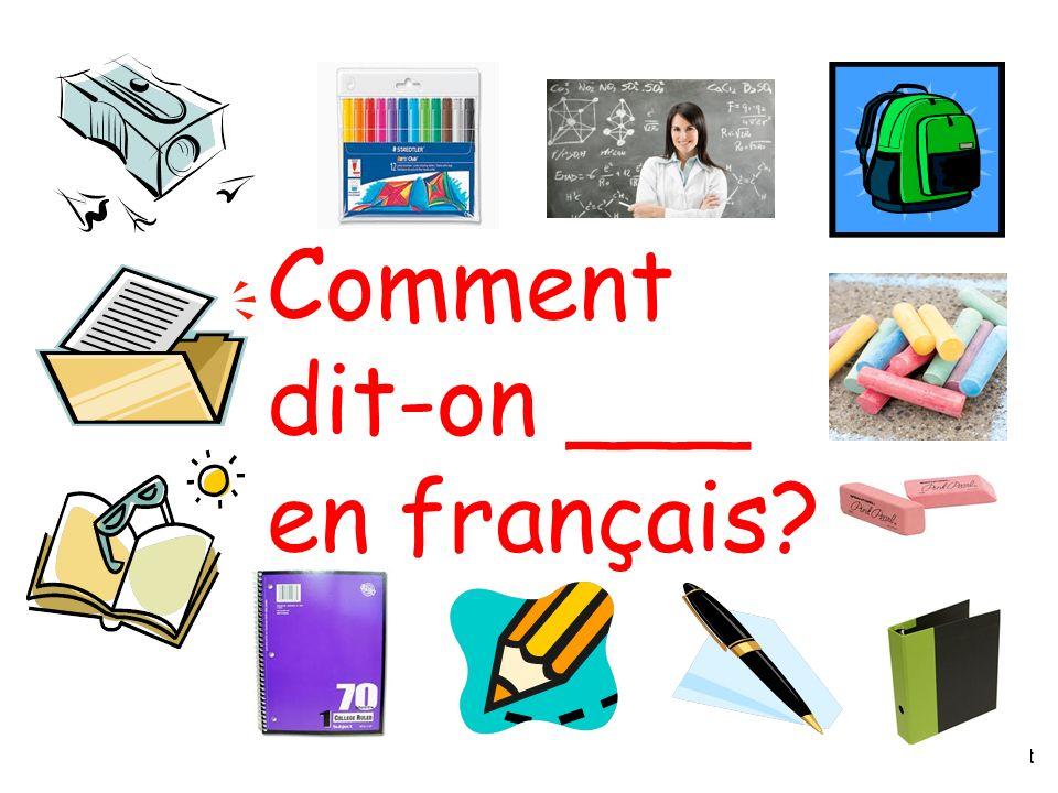 H. Stanistreet Comment dit-on ___ en français?