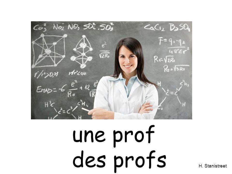 H. Stanistreet une prof des profs