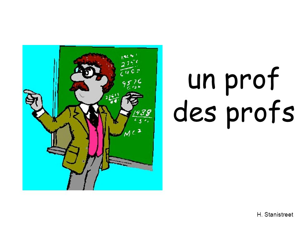 H. Stanistreet un prof des profs