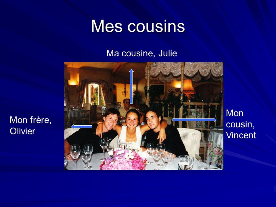 Mes cousins Ma cousine, Julie Mon cousin, Vincent Mon frère, Olivier
