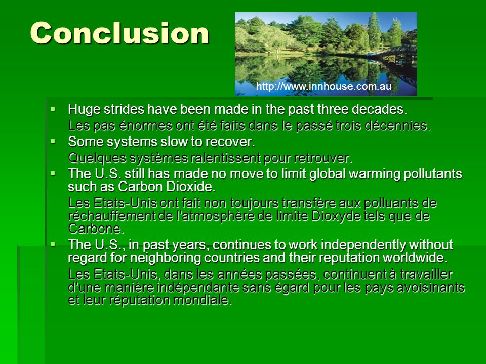Conclusion Huge strides have been made in the past three decades.