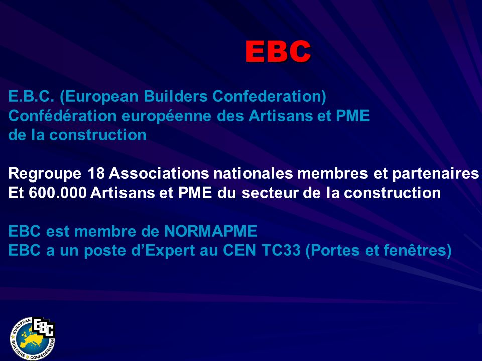 PLUS DINFORMATION www.eubuilders.org Merci pour votre attention !