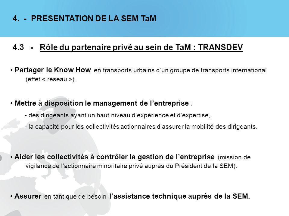 Partager le Know How en transports urbains dun groupe de transports international (effet « réseau »).