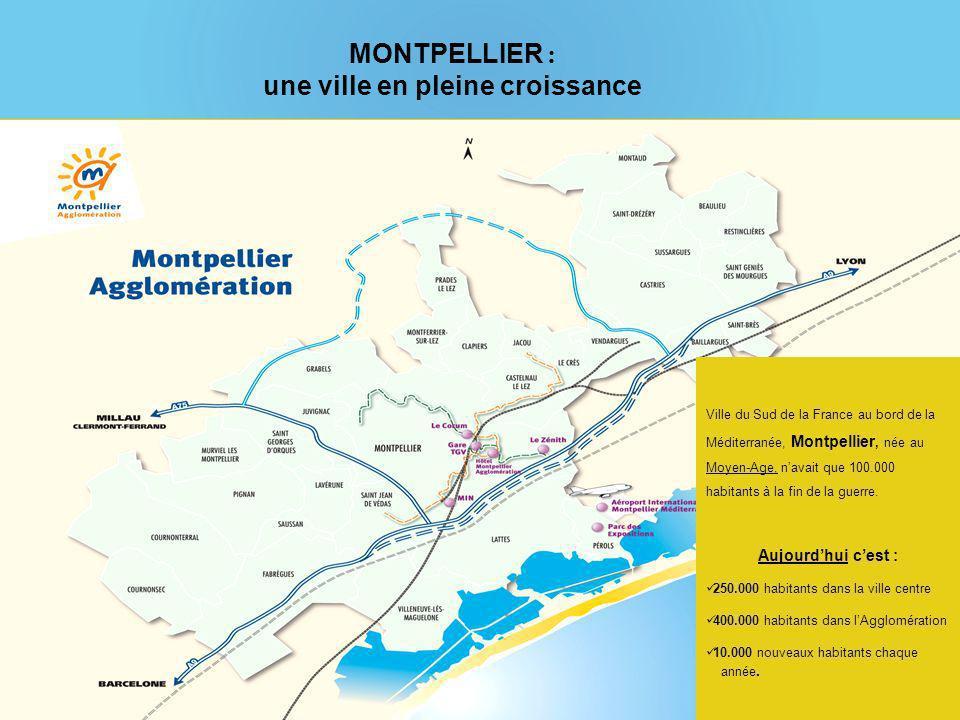 Ville du Sud de la France au bord de la Méditerranée, Montpellier, née au Moyen-Age, navait que 100.000 habitants à la fin de la guerre.