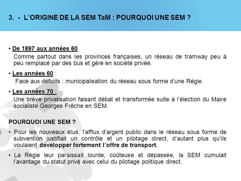3.- LORIGINE DE LA SEM TaM : POURQUOI UNE SEM .