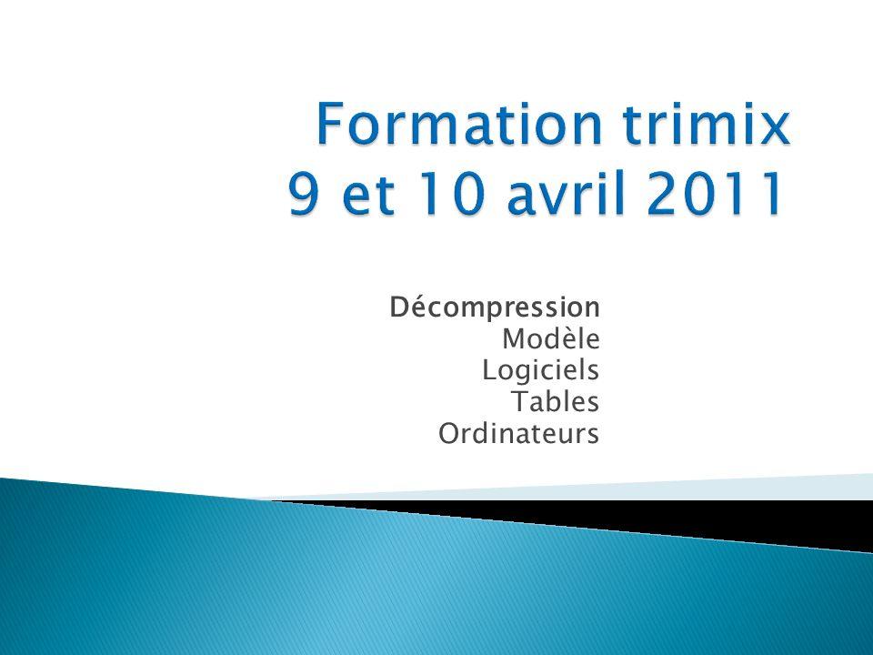 Décompression Modèle Logiciels Tables Ordinateurs