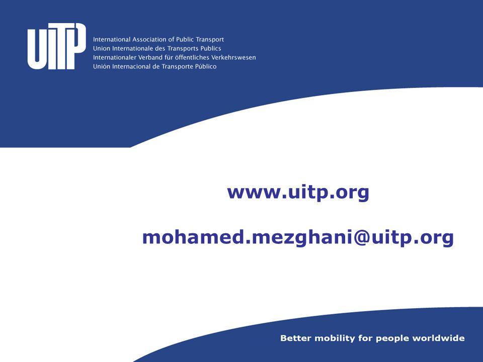 www.uitp.org mohamed.mezghani@uitp.org