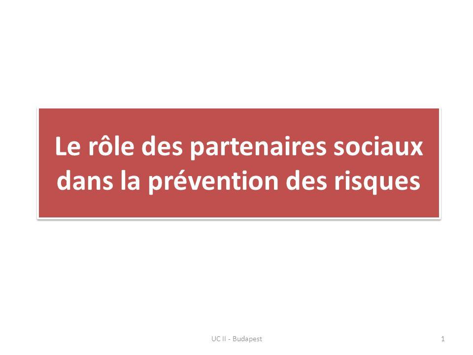 Le rôle des partenaires sociaux dans la prévention des risques UC II - Budapest1
