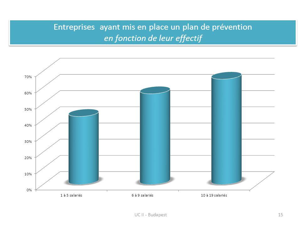 UC II - Budapest15 Entreprises ayant mis en place un plan de prévention en fonction de leur effectif