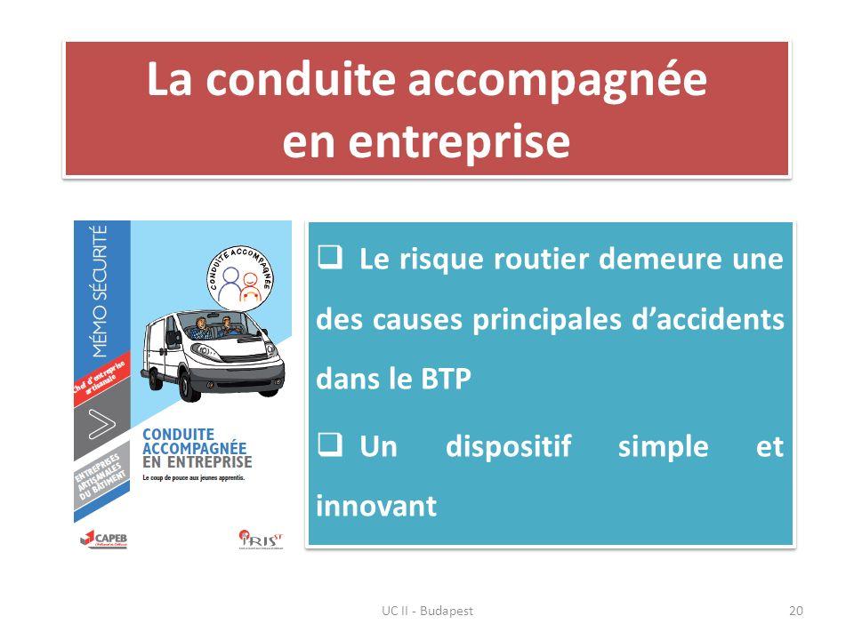 La conduite accompagnée en entreprise Le risque routier demeure une des causes principales daccidents dans le BTP Un dispositif simple et innovant Le
