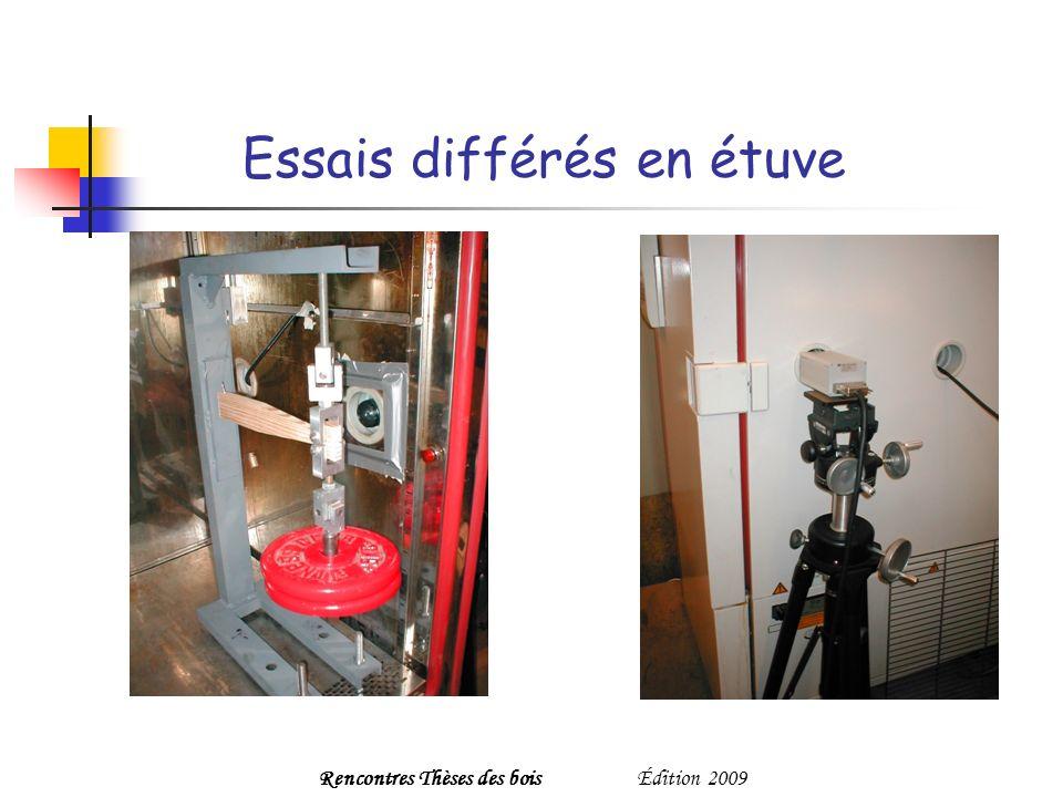 Essais différés en étuve Rencontres Thèses des boisÉdition 2009