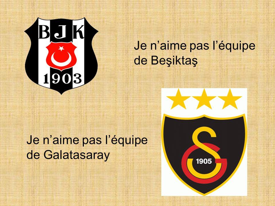 Je naime pas léquipe de Galatasaray Je naime pas léquipe de Beşiktaş