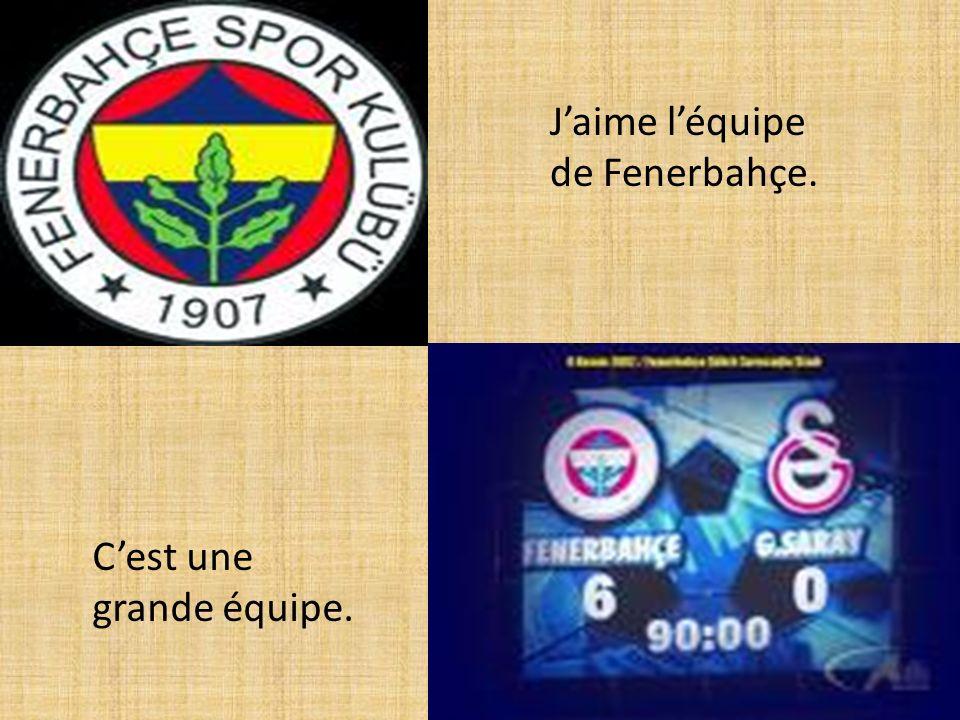 Jaime léquipe de Fenerbahçe. Cest une grande équipe.