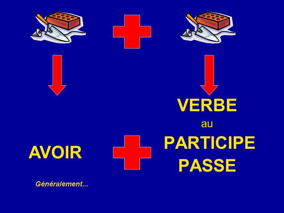 VERBE au PARTICIPE PASSE AVOIR Généralement...