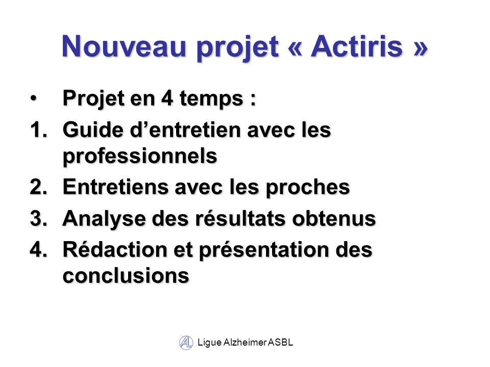 Ligue Alzheimer ASBL Montagne Sainte-Walburge 4bis B-4000 Liège - BELGIQUE Tél.