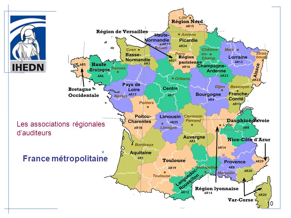 Les associations régionales dauditeurs France métropolitaine 10
