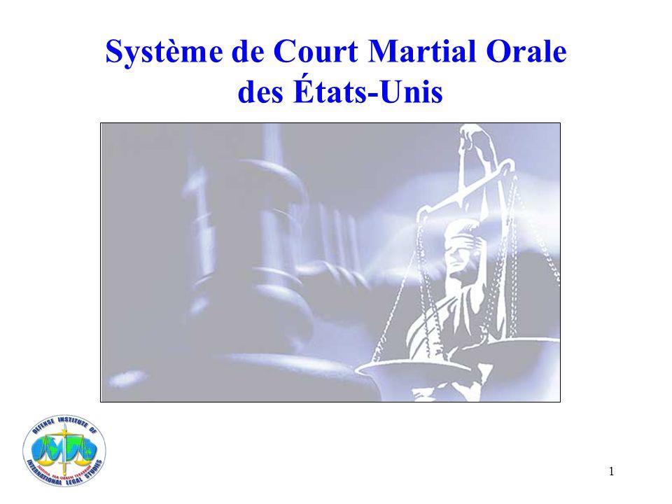 1 Système de Court Martial Orale des États-Unis