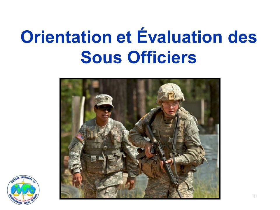 Orientation et Évaluation des Sous Officiers 1