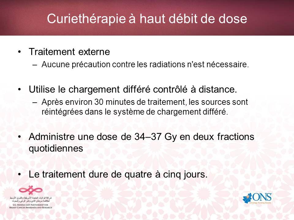 Implications pour les soins infirmiers de la curiethérapie Surveiller les infections au niveau des sites d insertion.