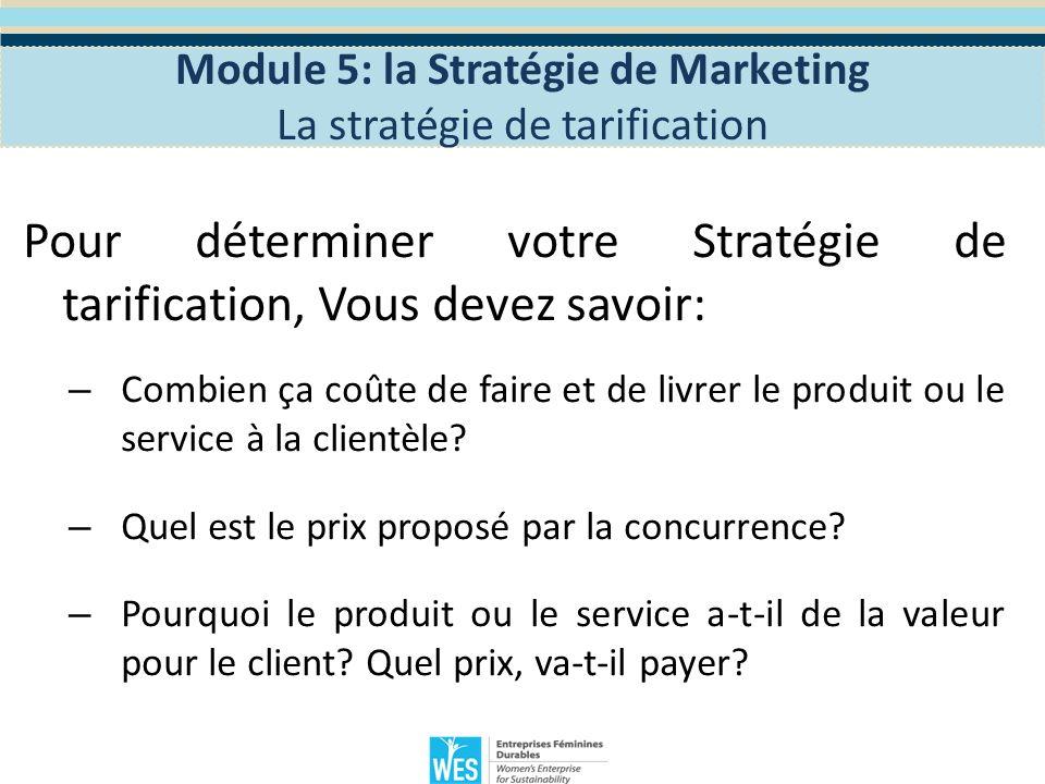 Discussion de groupe: – Comment voulez-vous fixer le prix de votre produit / service.