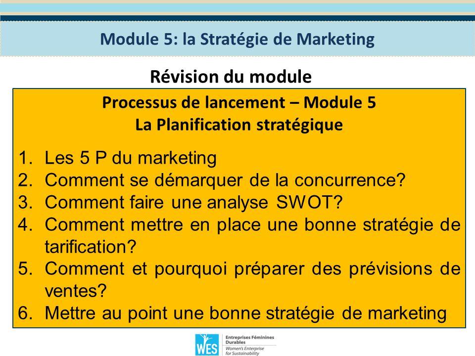 Module 6: la Stratégie de Communication Le programme WES de Formation en Entreprenariat