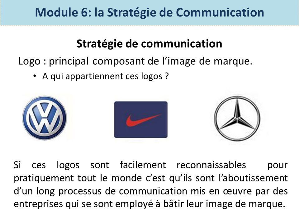 Stratégie de communication Le logo est donc le premier contact de lentreprise avec ses clients.
